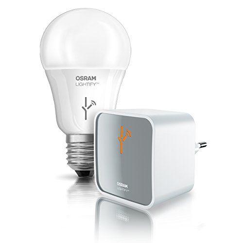 Osram Lightify Kit de démarrage: GATEWAY + CLA60 RGBW constitué d'une passerelle Gateway et d'une ampoule LED compatible (en remplacement…
