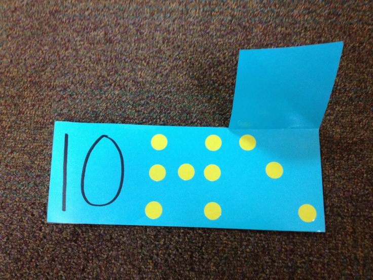 Decomposing numbers flap flash cards with dot stickers