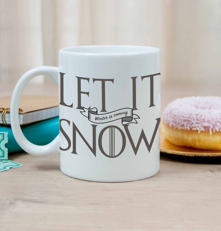 New to DesignGenesStudio on Etsy: Let It Snow Winter is Coming mug Jon Snow Game of Thrones mug ASOIAF quote mug GOT fans gift game of thrones gift you know nothing jon (17.50 USD)