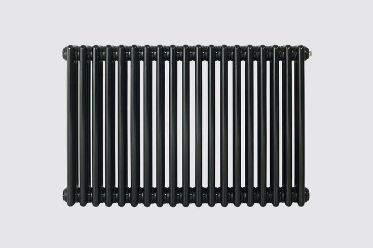 Eastgate Lazarus Jet Black Horizontal 3 Column Radiator - 600 x 1686 - Over 8000 BTUs Radiators - View Panel Rads by BTUs - Central Heating Radiators - Radiators