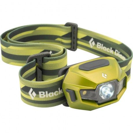 Sophisticated headlamp with a powerful beam that can operate on alkaline or NiMH batteries. The 110-lumen ReVolt runs off three Black Diamond NiMH AAA rechargeable batteries or standard alkaline AAA batteries. Distance mode is powered by one TriplePower LED; two SinglePower LEDs power proximity mode; and two SinglePower red LEDs power night vision mode. Held in a weather-resistant housing, the ReVolt is ready for nearly any mission.