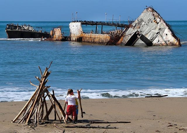 The Cement Ship, a landmark for nearly 90 years at Seacliff State Beach on Monterey Bay, sits broken in pieces in the surf. Just offshore, its huge stern is toppled on its side and juts into the air like an old, unmarked tombstone. The Cement Ship was a 400-foot vessel named the Palo Alto, built in 1919 with a hull cast in concrete when steel was in short supply after World War I. It was never deployed, was mothballed for 10 years, and then was towed to Monterey Bay. It came to rest in the…
