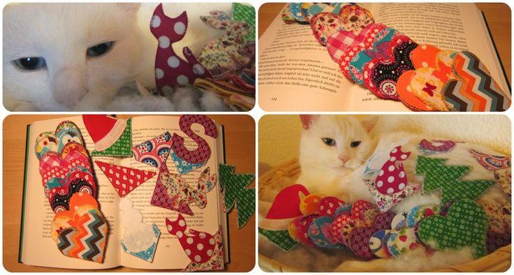 Sarahs Welt der Bücher: DIY - Eck-Lesezeichen aus Stoff in Herzform