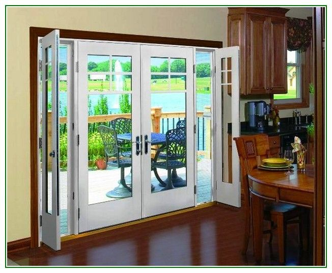 Patio french doors with sidelights for Wood french patio doors
