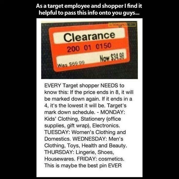 25+ unique Target clearance schedule ideas on Pinterest | Target ...