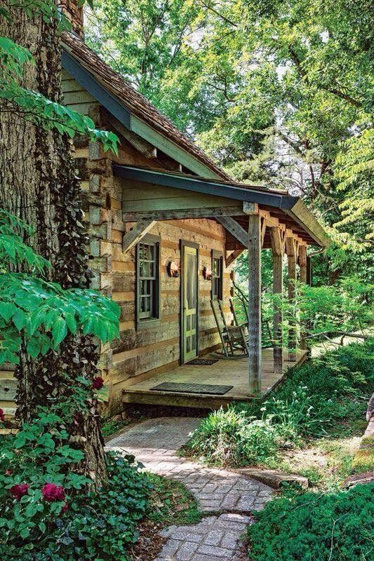 Nice covered porch on this cottage.