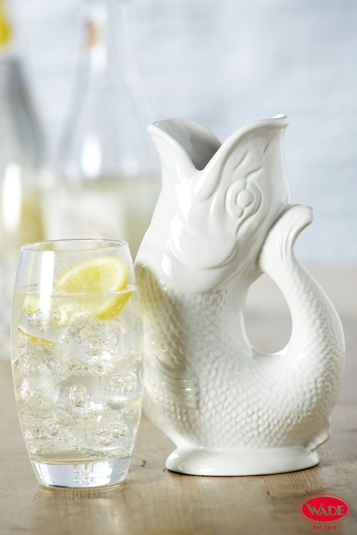 This fabulous Gluggle Jug design will work well in any home! Pouring from three quarters full produces a fantastic gluggling sound, bound to spark conversation at the dinner table!   www.wade.co.uk
