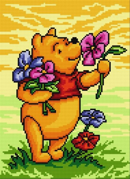 Disney winny the pooh cross stitch. This would be fun I want to get back into cross stitching!