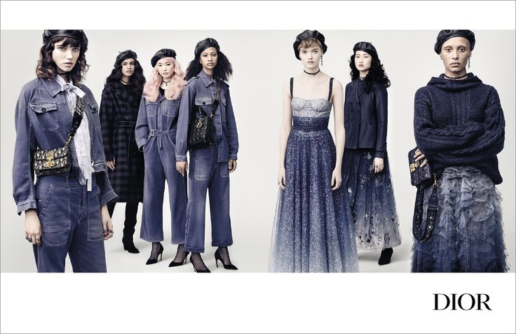 Dior Dominates with an Army in Blue for Fall 2017 Ad Campaign, Creative Direction by Fabien Baron, Photographed by Brigitte Lacombe