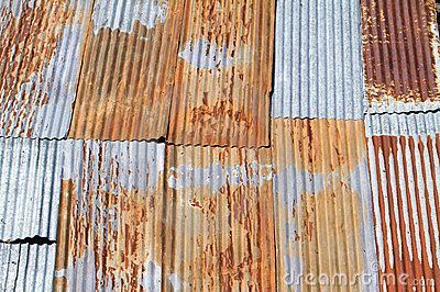 Old corrugated metal roof by Christophe.rolland1, via Dreamstime