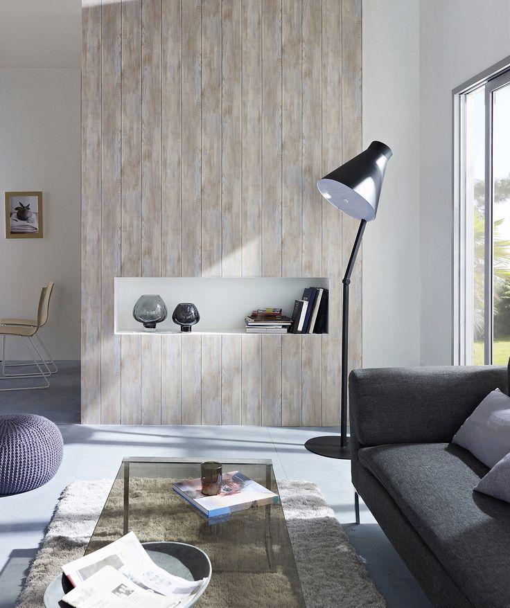papier peint vinyle intiss effet bois bleut papier. Black Bedroom Furniture Sets. Home Design Ideas