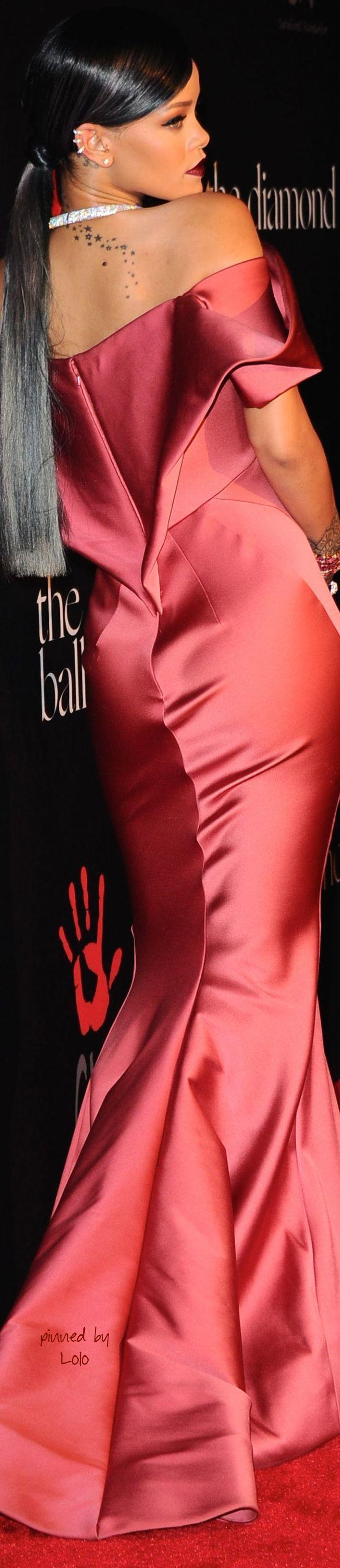 Rihanna in Zac Posen for Diamond Ball Benefit