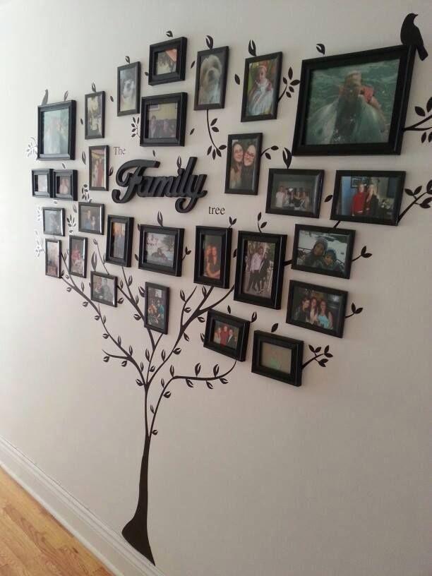 Ode aan je voorouders: een decoratieve stamboom aan de muur