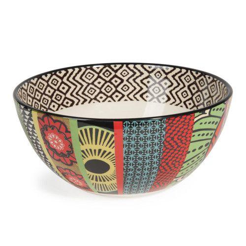 Salatschüssel JANEIRO aus Keramik, bunt