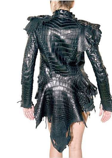 $50,000 Crocodile Jackets - Jaw-Dropping Balmain Leather Jacket Isn't for PETA Members (GALLERY)