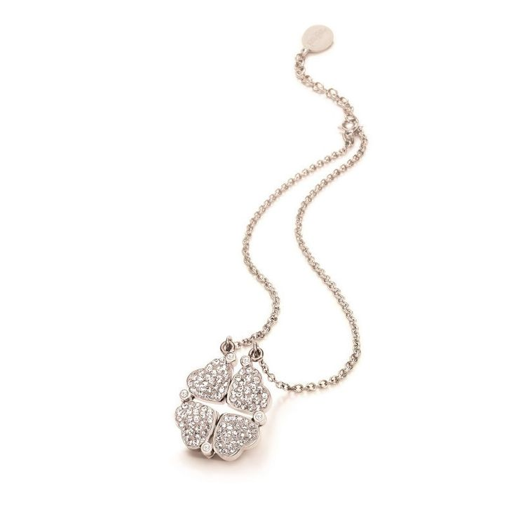 Folli Follie Heart 4 Heart Necklace Silver Necklace