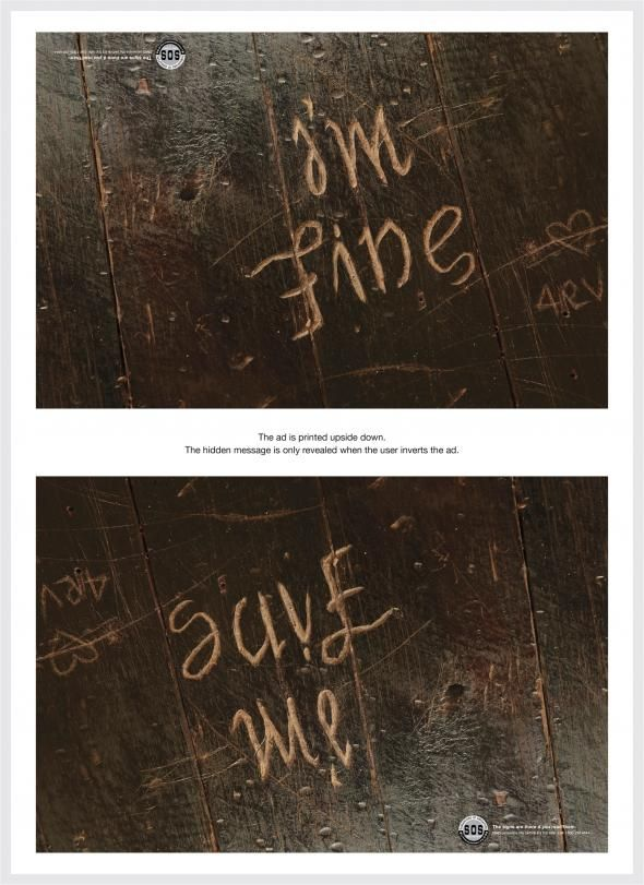 Creative Depression Awareness Ads Remind Us That Depression Can Hide
