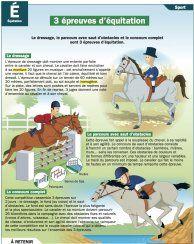 3 épreuves d'équitation