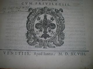 LA BIBLIOTECA DI CELSO: LE ISTITUZIONI DI GIUSTINIANO CINQUECENTINA 1598