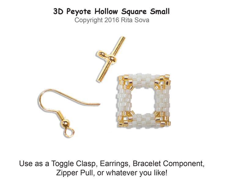 3D Peyote Hollow Square Small | Bead-Patterns.com
