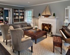 how to decorate a small living room with a baby grand piano - Google Search