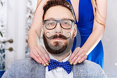 Old-fashioned Man With A Beard And Curled Mustache - Download From Over 50 Million High Quality Stock Photos, Images, Vectors. Sign up for FREE today. Image: 52644989