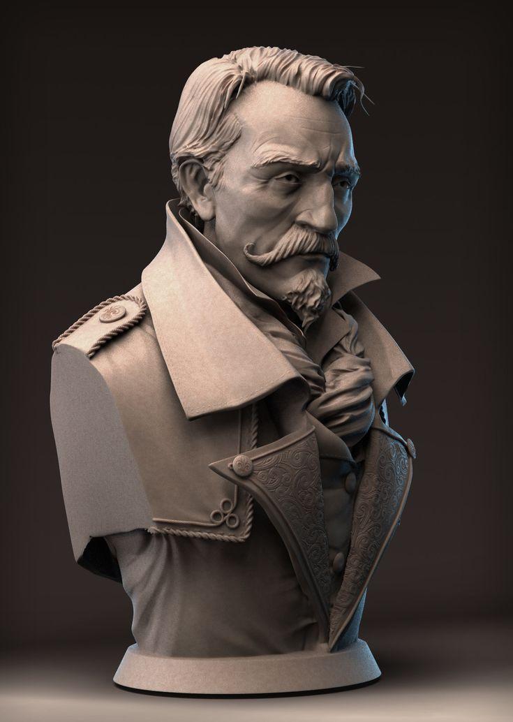 Second_Empire Officier, Samuel PIRLOT - PETROFF on ArtStation at https://www.artstation.com/artwork/second_empire-officier