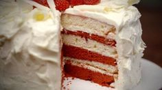 How to make the perfect White Chocolate and Raspberry Layer Cake by  on Food Network UK.