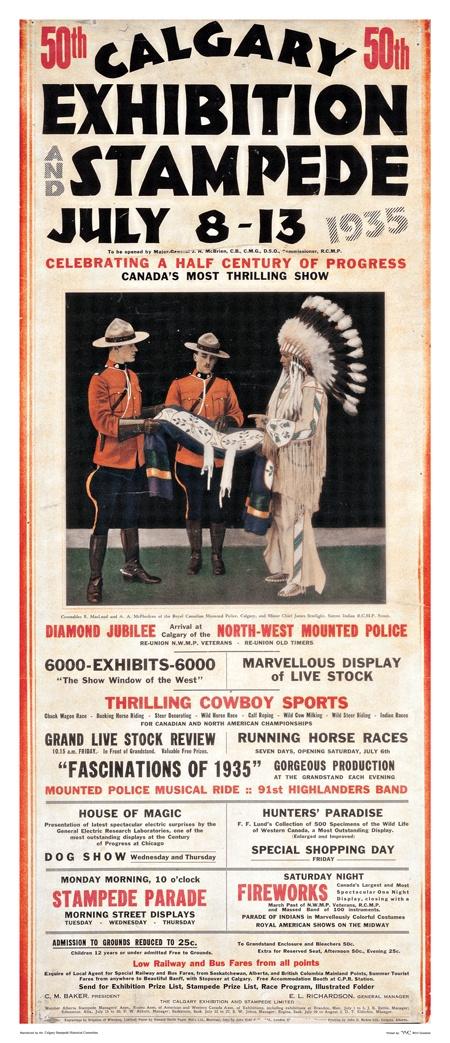 1935 Calgary Stampede poster