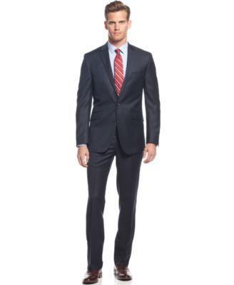 Kenneth Cole Reaction Navy Slim-Fit Suit - Shop All Suits - Men - Macy's