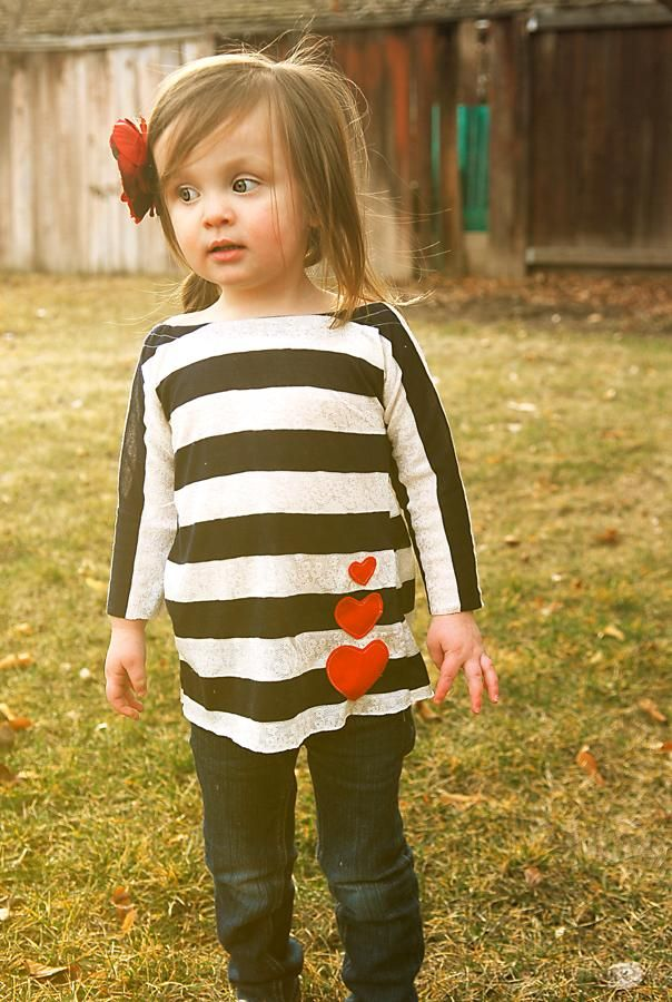 DIY Clothes Refashion: DIY I Love You 3 times Tee