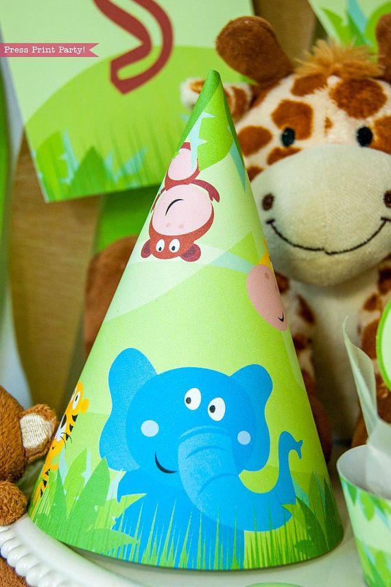 Safari Hat Tag Safari Baby Shower Jungle Birthday Party Zoo Birthday Safari Birthday Party Zoo Animal Baby Shower Jungle Theme