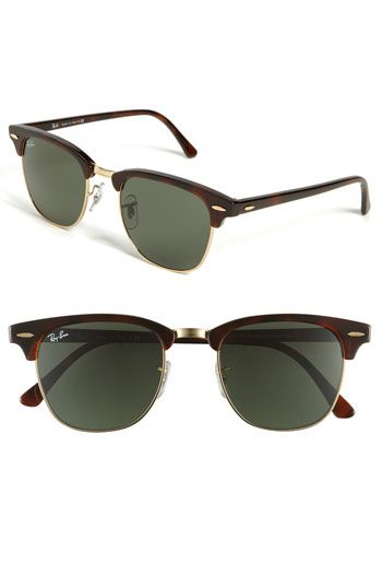 Ray-Ban Classic Clubmaster $145-Gonzo classy. Definitely buying these!