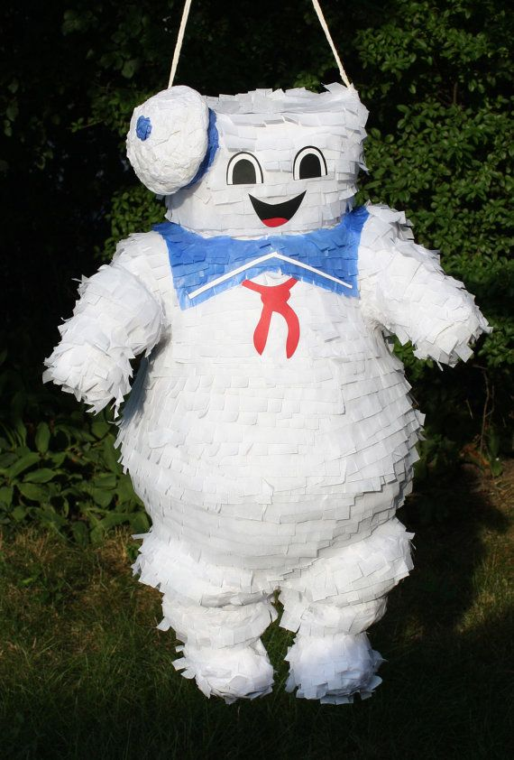 Stay Puft Marshmallow Man For every ghost buster party, you need a Stay Puft Marshmallow Man Pinata! Marshmallow Man stands about 22 tall. He