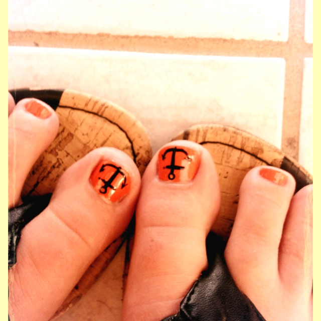 MILF Shay Orange Toenails