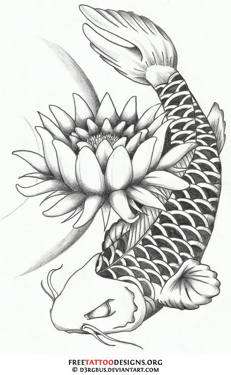 17 best images about birthday tattoo on pinterest lotus for Koi fish designs