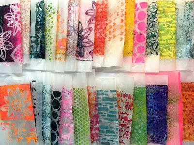 Layering Technique with Gelli® Printed Tissue Paper