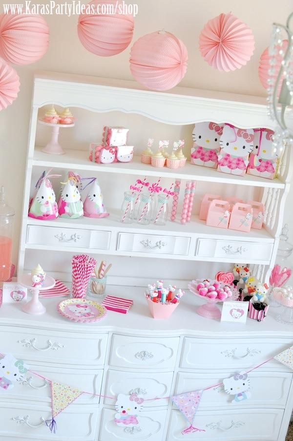 Hello Kitty Birthday Party via Kara's Party Ideas Ideas -www.KarasPartyIdeas.com