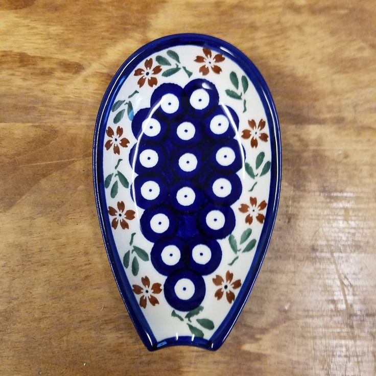 Spoon Rest - Traditional Red Floral **WH**