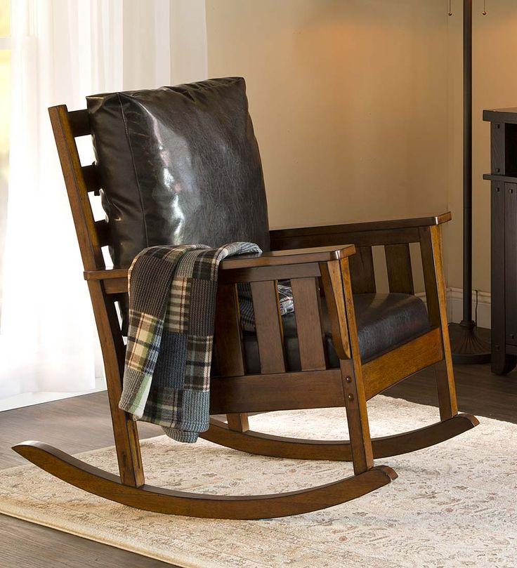 Grove Park Rustic Rocking Chair · SchaukelstuhlPolsterstühleBerghäuserHandwerker  MöbelMöbel ...