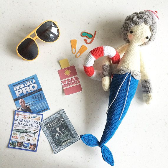 Mici the Mermaid Cute Mermaid Crochet Doll by CuteCreate on Etsy