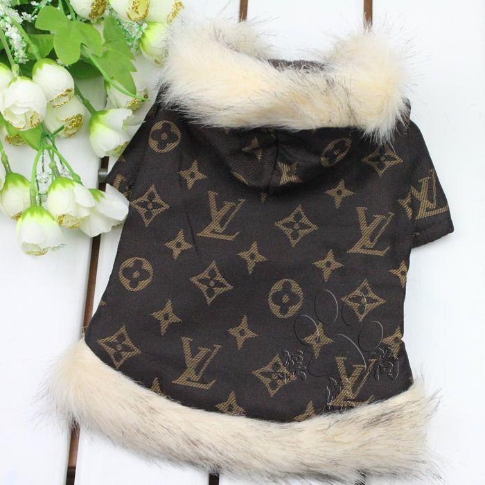 Louis Vuitton Dog Clothes Designer | Pet products Fashion Brown Designer Pet Dog Clothes Jacket Cotton ...