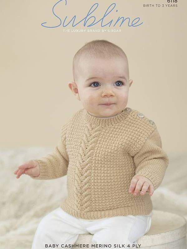 Baby Boys Moss Stitch Jumper