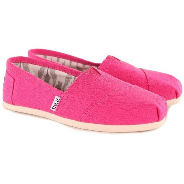 Toms Women's Classic Earthwise Pink Espadrilles ($63) ❤ liked on Polyvore
