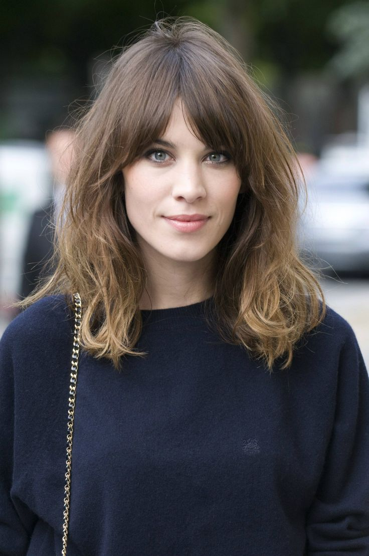Wavy Shoulder Length Haircut With Split Bangs