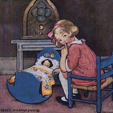 Shhh, Baby's sleeping-Jessie Willcox Smith)