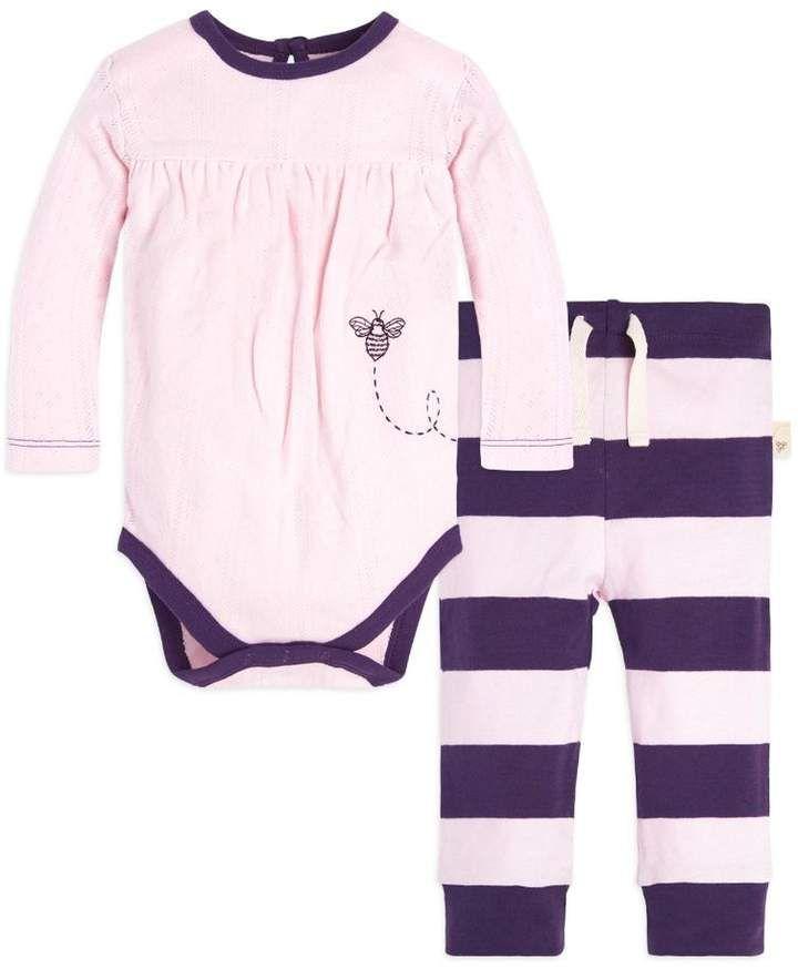 63893e8c0 Burt's Bees Pointelle Organic Baby Cotton Bodysuit & Pant Set