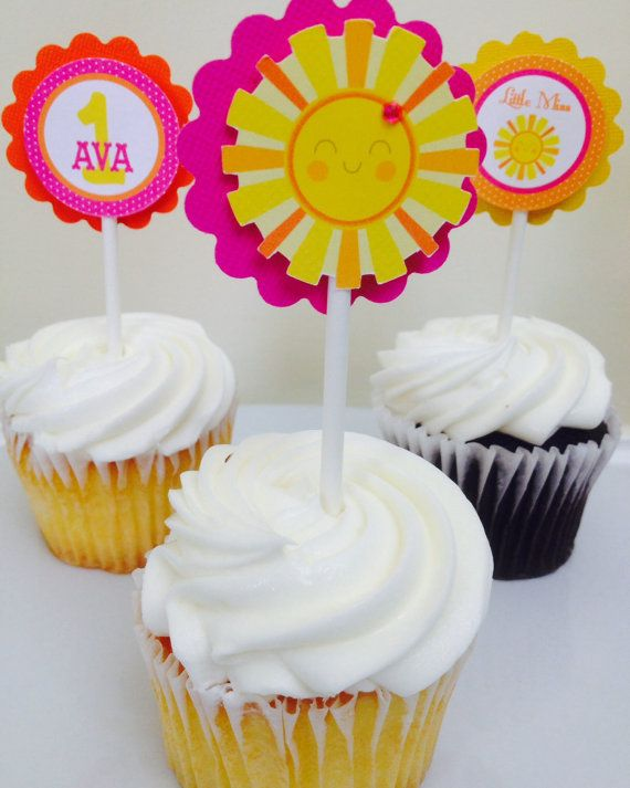 You are my sunshine cupcake toppers you by karlaspartycreations