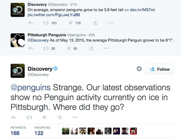 The Discovery Channel had the ultimate Twitter burn for the Pittsburgh Penguins | For The Win