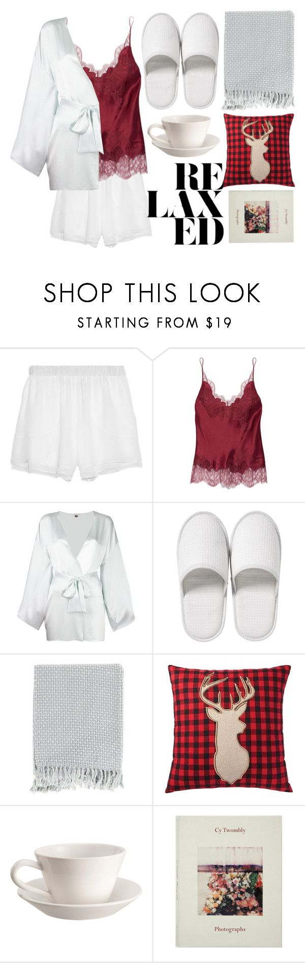 """Scrounge and Lounge"" by jaeim ❤ liked on Polyvore featuring Prabal Gurung, Carine Gilson, Gilda & Pearl, Bedeck, Surya, Home Decorators Collection, Bourg-Joly Malicorne and LovelyLoungewear"